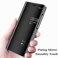 Olaf For P10 Lite Case Mirror Back Smart Flip Cover Leather Case For Huawei P10 Lite