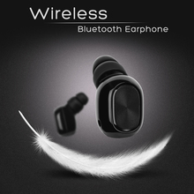 TWS Earbud Wireless Bluetooth Earphone Headphone Black Color Wearing Comfort Compatible with iPhone 6 7 8 X Xr Xs max.