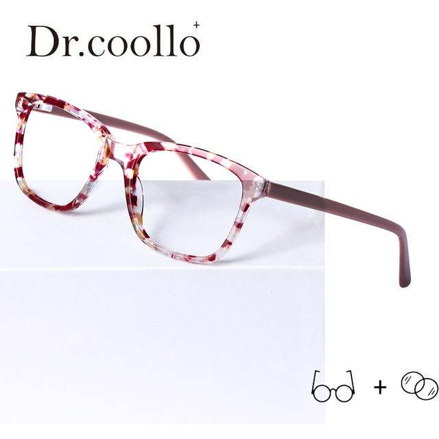 Acetate Glasses Frame Women's 2019 Vintage Square Myopia Eyeglasses Prescription Glasses Optical Frames Eyewear