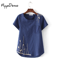 L 4XL 4 Colors 2017 New Casual Girl Shirt Plus Size Women Summer Embroidery Short Sleeve