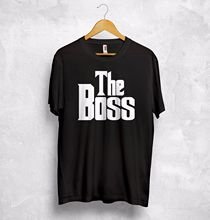 the boss the real boss t shirt matching couple valentines gift boyfriend wifey sleeves boy cotton