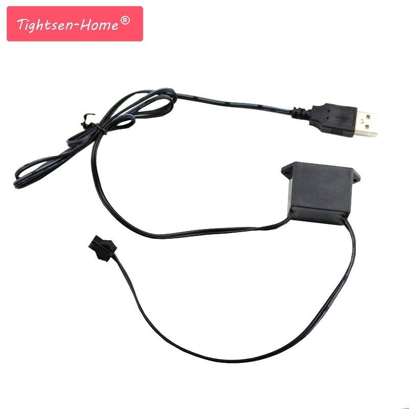 El Wire Inverter Power Driver For Light Strip Mini 5V USB 1-5M 1M 3M 185mm EL Wire Cable Neon Glow Inverter Festival Decoration