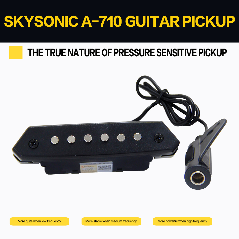 Skysonic A-710 Above 90mm Sound-hole Magnetic Passive Pickup for Acoustic Guitar Fingerstyle, playing, solo guitar pick holder belcat bass pickup 5 string humbucker double coil pickup guitar parts accessories black