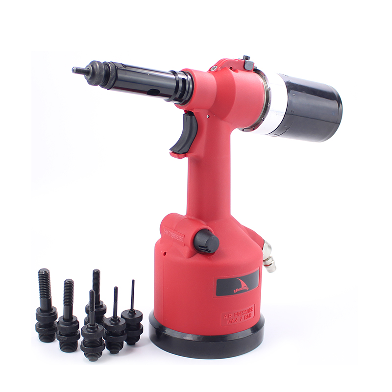 цена на Quality Auto Pneumatic Riveter Set Pneumatic Rivet Nuts Gun Air Riveter Tool Kit M3-M12
