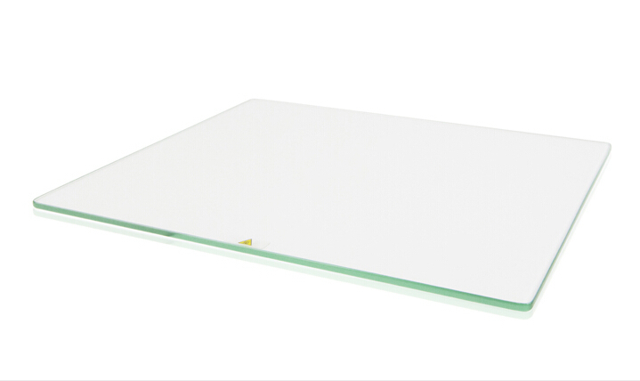 3 D printer parts Ultimaker 2 Print Table Glass plate for heated bed High boron silicon glass plate rounded corner :5 mm