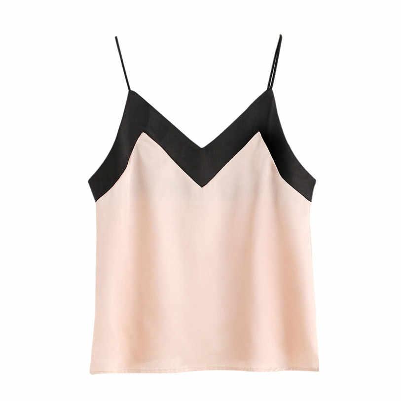 Camis Women 2018 New Women Casual Sleeveless Crop Top Vest Tank Shirt  Blouse Cami Top Feminina ccdb9a02e7c5