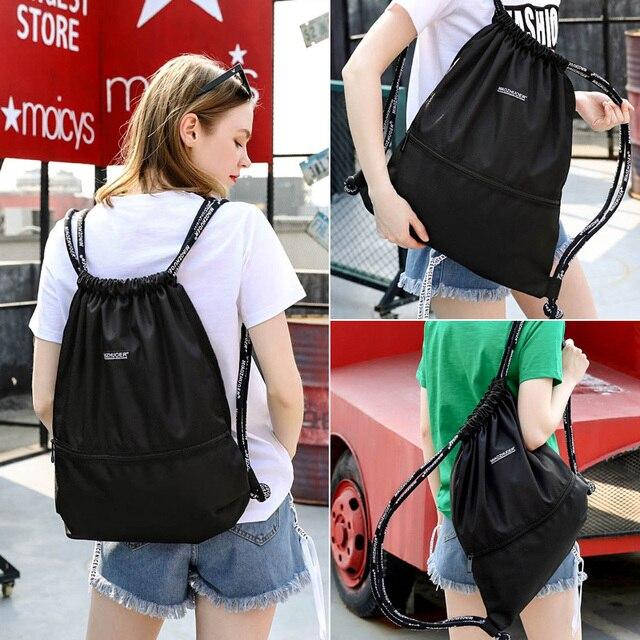 Водонепроницаемый нейлон плавание сумка Для мужчин Для женщин Drawstring Плавательный рюкзак большой Ёмкость спортивные сумки для путешествий ...