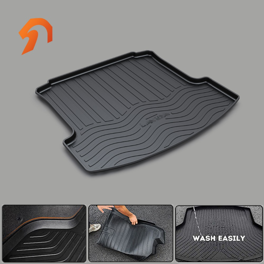 FIT for Volkswagen VW PASSAT POLO LAVIDA SANTANA TOUAREG SAGITAR LAMANDO JETTA BOOT LINER REAR TRUNK CARGO MAT TRAY FLOOR CARPET car rear trunk security shield cargo cover for volkswagen vw tiguan 2016 2017 2018 high qualit black beige auto accessories