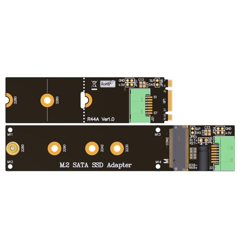 2018 nouveau M.2 SATA SSD adaptateur SSD rallonge cordon M2 support SATA3 6g. s pleine vitesse ADT 18 cm