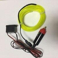 2.3mm livraison gratuite waterproofsewable welt el fil incandescent stroboscopique fil 5 m flexible néon câble avec 12 onduleur pour voiture livraison le bateau
