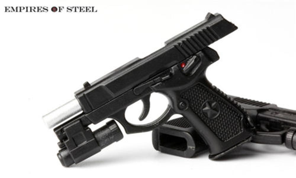 "1//6 Semi-automatic QSZ92 Pistol Hand Gun Weapon  PVC Model Toys F 12/""  Figure"