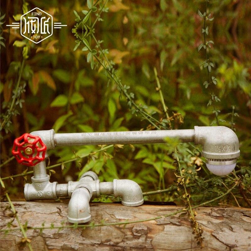Abajur Sala Water Pipe Table Lamps For Bedroom Living Room Loft Industrial Vintage LED Beside Lamp Lampara Luminaira De Mesa american led vintage desk table lamp for bedroom living room led beside lamps lampara luminaira de mesa abajur para quarto