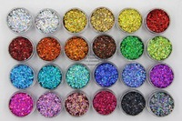 24 holographic colors Round Dot shape 1MM Size Glitter sequins for Nail and Art DIY decora
