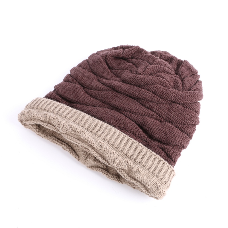 Men Women Warm Winter Knitted Beanie Casual Solid Skull Cap Hat Unisex Cashmere Hip-Hop