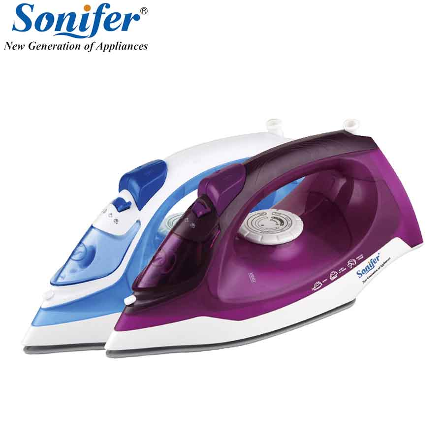 2000W Original Mini Colorful Portable Electric Steam Iron For Clothes 220V Three Gears Ceramic soleplate Sonifer цена