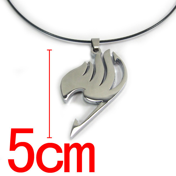 Silver Fairy Tail Necklace Pendant Metal Necklace Natsu Dragneel Tattoo lucy Heartfilia anime cosplay chain