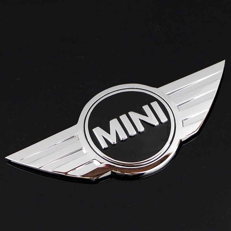 mini cooper logo 3d car stickers metal emblems for mini