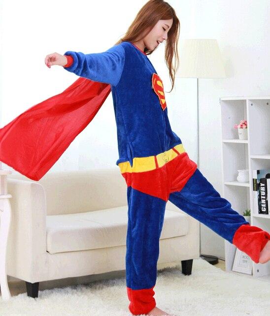 ddf191ce85 Kigurums Batman Spiderman Iron Man adulto Onesie superhombre superhéroe pijamas  Unisex Capitán América Cosplay traje