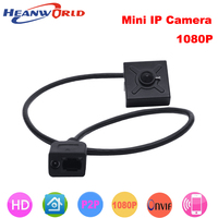 Heanworld 1080P super mini webcam 1920 * 1080 pixels full hd indoor security cctv camera onvif with 3.7mm lens ip Cam