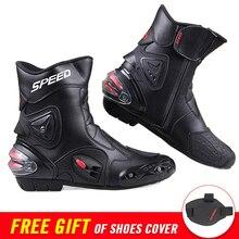 PRO-BIKER/мотоциклетные ботинки; мужские ботинки из искусственной кожи для мотокросса и голеностопа; защитная экипировка; байкерские ботинки