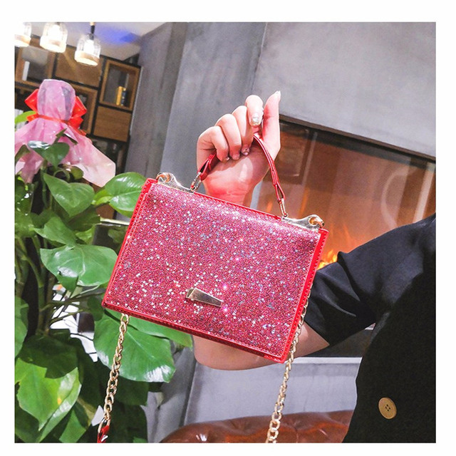 Women Shining Sequins Shoulder Bags Sequined Handbag Glitter Sparkling  Small Female Shoulder Bags Casual Tote Black Brown Bags 2388802e2038