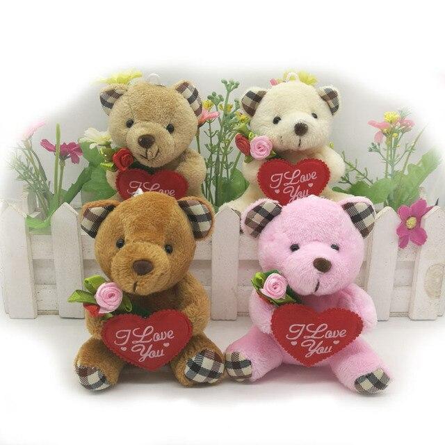 Wholesale 9cm stuffed teddy bear with i love you heart and flower wholesale 9cm stuffed teddy bear with i love you heart and flower plush bear for wedding voltagebd Gallery