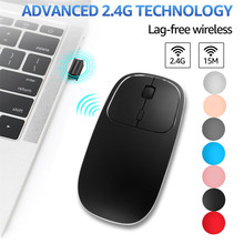Rechargeable 2.4G USB Wireless Metal Silent Optical Type C noiseless gaming Mouse Mice for PC  MacBook office 0514