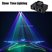 Fast Delivery 2 Lens RGB Beam scan dj Laser disco Light DMX 512 Professional DJ Party Show Club Holiday Home Bar Stage Lighting