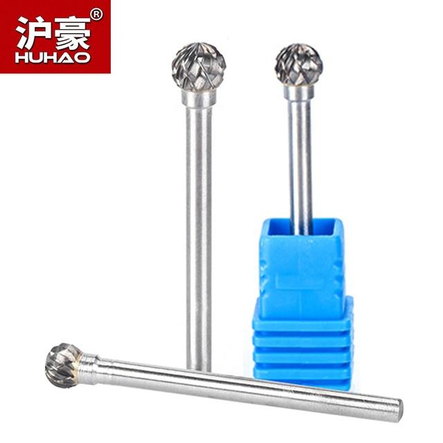 HUHAO 1 шт. 3 мм хвостовик Вольфрамовая карбоновая стальная резьба для шлифования металла, вращающийся цилиндрический Фрезер для полировки металла