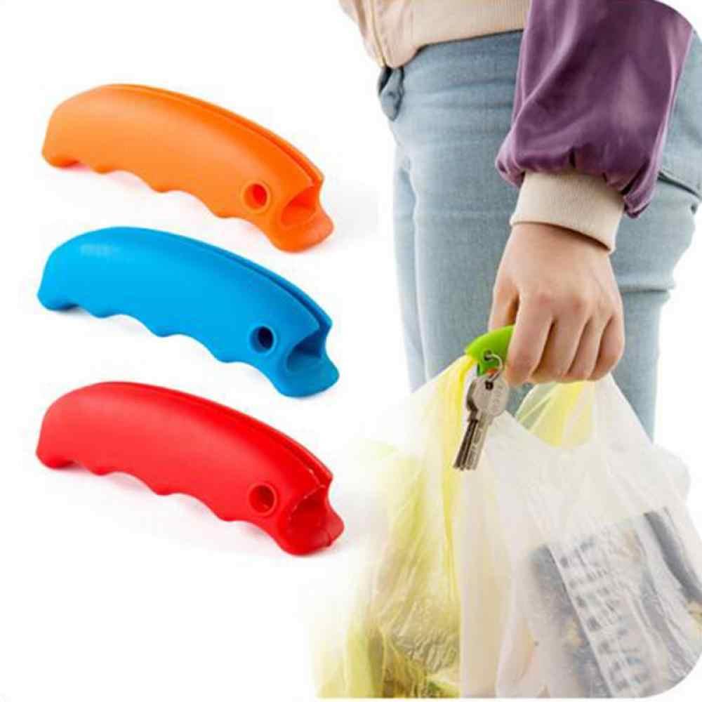 1 قطعة سيليكون دلو الغذاء الاشياء التسوق العمل حفظ حمل أكياس مقبض حامل شماعات المطبخ أدوات