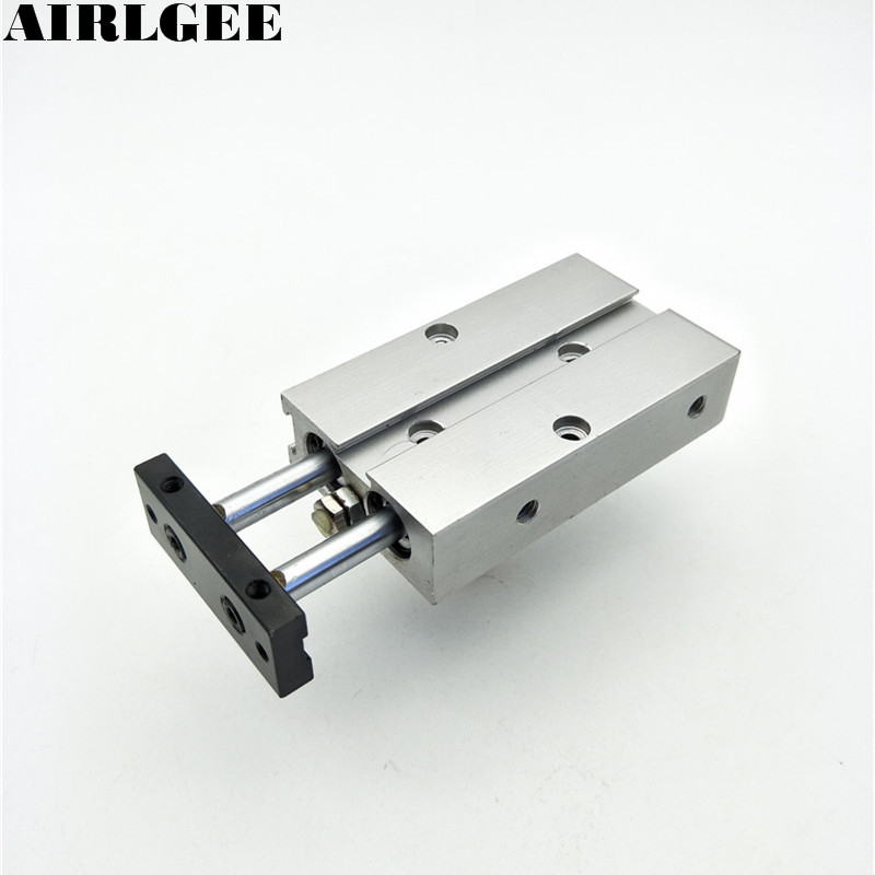 TN Series 10mm Bore 25mm Stroke Dual shaft Twin Rod Guide Air Cylinder Free Shipping cxsm10 10 cxsm10 20 cxsm10 25 smc dual rod cylinder basic type pneumatic component air tools cxsm series lots of stock