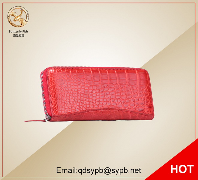 Butterfly Fish Women Genuine Leather Purse Red Color Fashion Lady Zipper Long Wallet butterfly fish women genuine leather purse red color fashion lady zipper long wallet