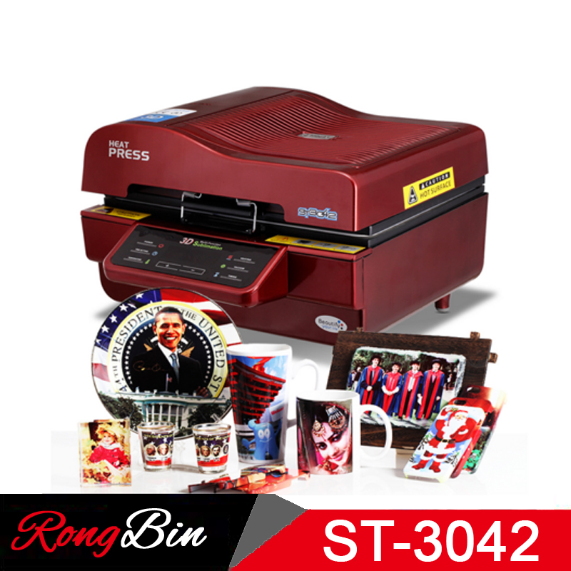 ST-3042 3D Sublimation Printer 3D Vacuum Sublimation Heat Press Transfer Machine Printing  for Phone Cases Mugs Plates Glasses 23x30cm small heat press machine combo heat transfer machine sublimation printing machine hp230a