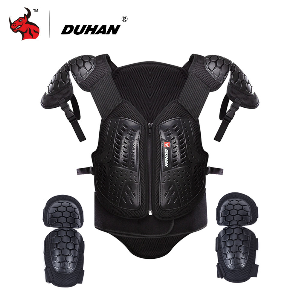 DUHAN Motorcycle Armor Waistcoat Motorcycle Riding Protection Jacket Vest Chest Protective Gear Elbow Pads Motorcycle Jacket duhan off road racing motocross motorcycle jacket body protector armor motorbike riding protective gear vest chest elbow pads