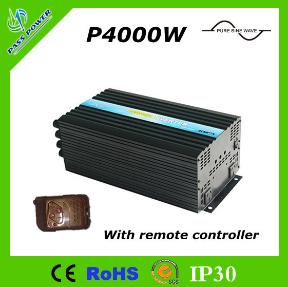 CE&RoHS Approved,DC AC <font><b>12V</b></font> <font><b>24V</b></font> 48V <font><b>to</b></font> 220V 230V Pure Sine Wave Power Inverter 4000W with Remote Control image