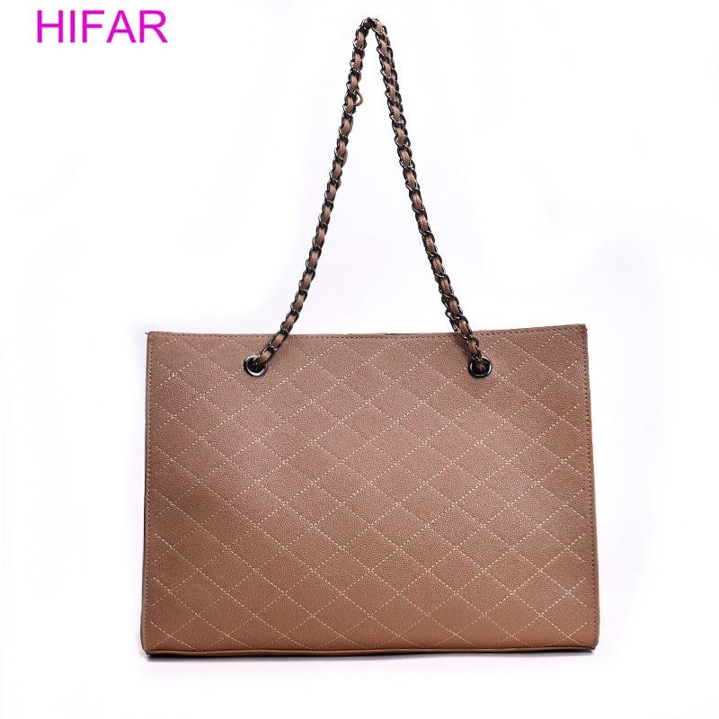 HIFAR Leather Bags For Women 2018 Luxury Handbags Women Bags Designer Big Tote Hand Bag Chain Leather Handbag Set Bolsa Feminina