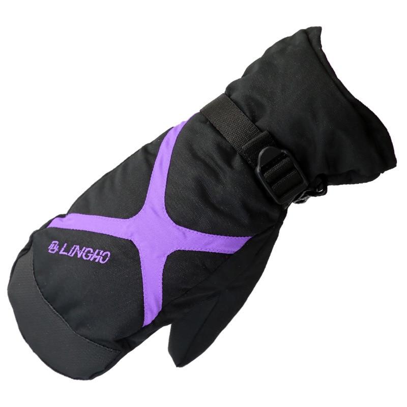 Prix pour Enfants ski gants de ski rose violet pour les filles vent chaud gants d'hiver en plein air étanche snowboard taille gratuit