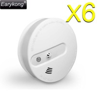 Free Shipping Powerful 433MHz Wireless Home Security Alarm System For 6pcs Smoke Temperature Detector For GSM
