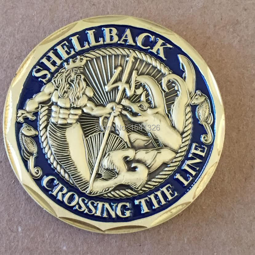 Ebay Hottest Items - Honor Medals Navy Shellback Crossing the Line  Challenge Color Paint Coins 3c76aa31a7fe