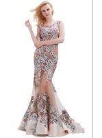 finove 2017 вечерние платья элегантный с V-образным вырезом без рукавов сексуальные вечерние кристалл бисер праздничное длинное выпускные платья для женщин