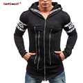 GustOmerD New Spring Men Hoodie Slim Fit Multi-Zipper Hoodies Brand Zipper Fashion Hoody Tracksuit Mens Hoodies And Sweatshirts