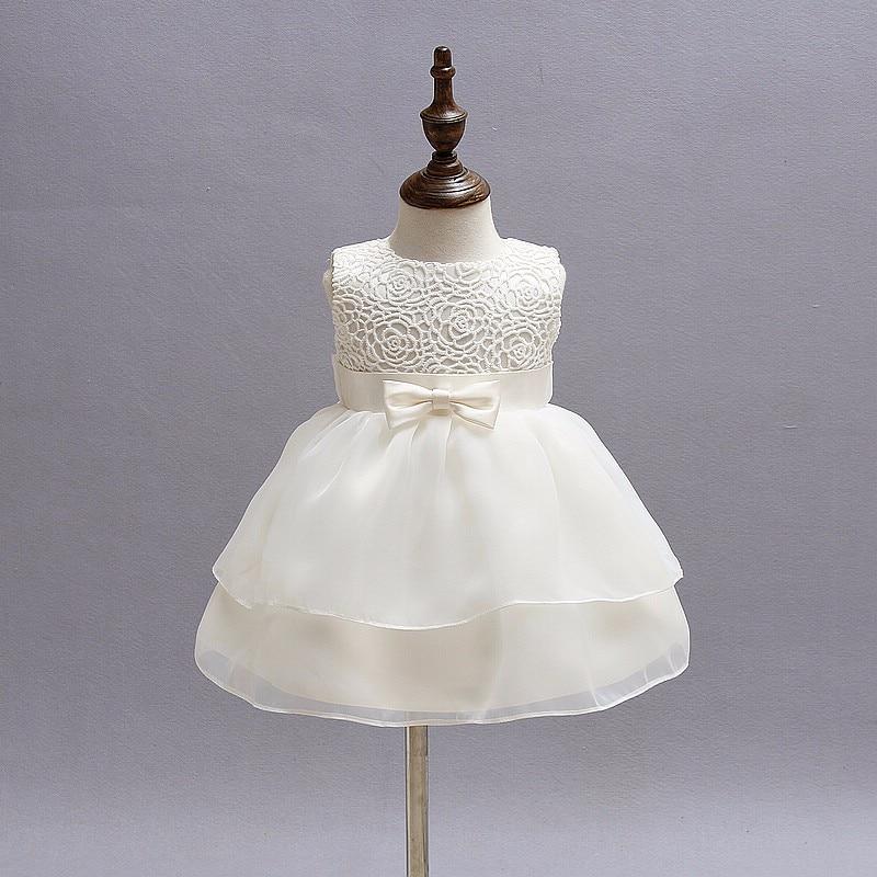 Baby Girls White Baptism Dress Newborn Princess 1 Year Birthday Party Dress Toddler Christening Gown Dresses For Girls 12 24M