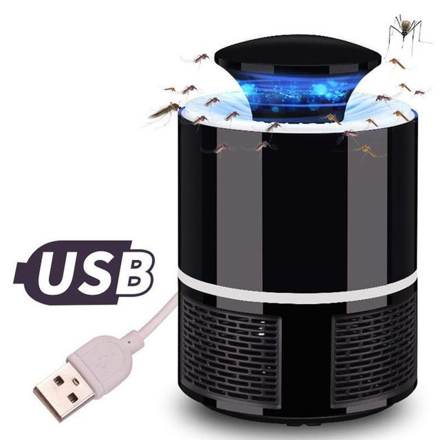 Mosquito Killer Trap Moth Fly Wasp LED Night Light Lamp Bug Insect Lights Killing Pest Zapper Repeller