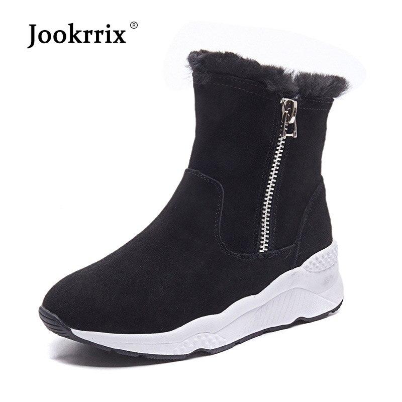 1500c668107ed0 Fourrure Beige Dame Bottes Chaud Femelle Jookrrix Chaussure D'hiver  Cheville Casual De Femmes Avec 2018 Mode Chaussures Marque Noir noir Neige  vxawxEzUq