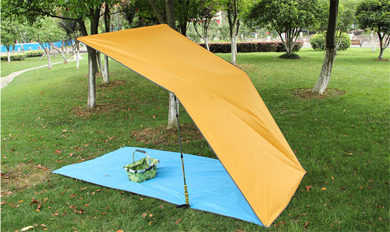 Free Shipping Simple Tent Ground Mat Camping Outdoor Sun Shelter Shade Awing Beach 2 2m 3m In From Sports