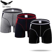 3 teile/los männer Unterwäsche Boxer Boxer Lang Hombre Unterhose Modal Mann Slip Homme Boxershort Badehose Männlichen Höschen Dünne M XXXL