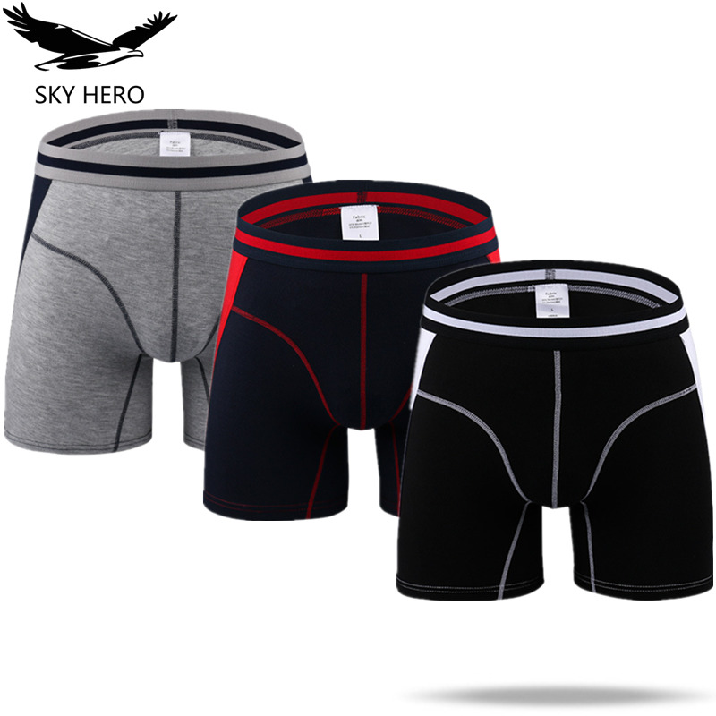3pcs/lot Men's Underwear Boxers Long Boxer Hombre Underpants Modal Man Slip Homme Boxershort Trunks Male Panties Thin M-XXXL