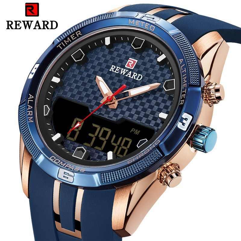 Модные мужские часы Топ люксовый бренд мужские спортивные часы мужские кварцевые светодиодный цифровые часы Мужские Силиконовые военные наручные часы для мужчин
