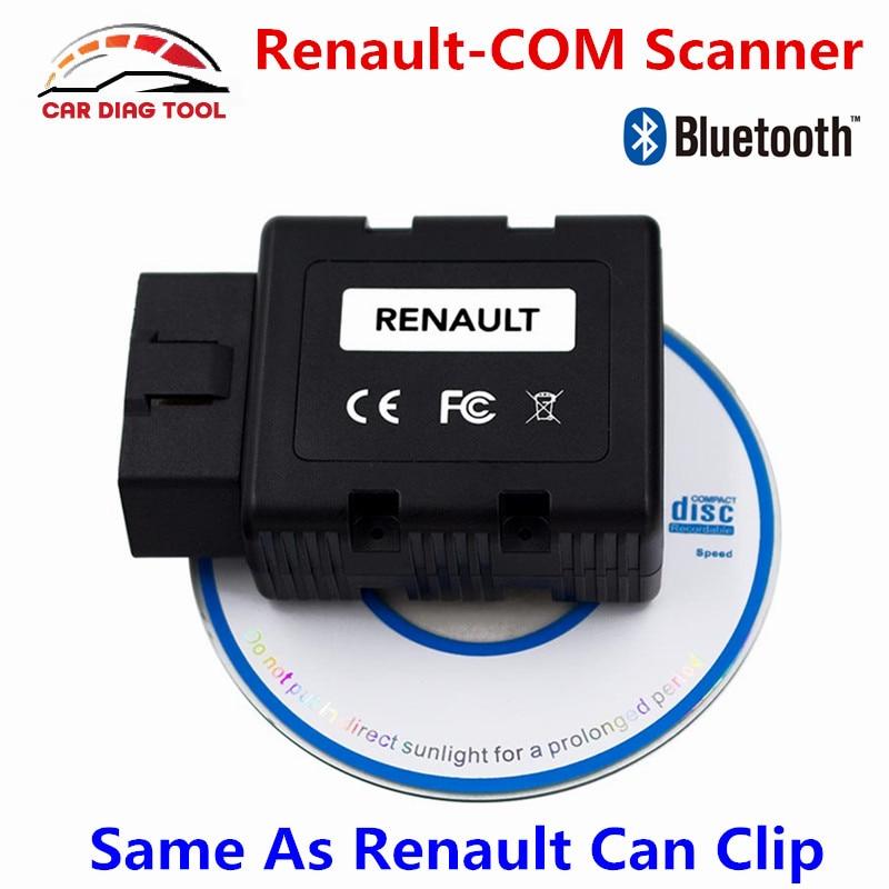 Цена за 2017 Лучшая цена Renault-com Bluetooth Авто OBD2 инструмент диагностики renault com сканер Замена Renault может закрепить Бесплатная доставка