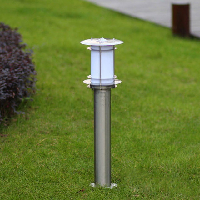 45cm Outdoor Landscape Lamp Stainless Steel Lawn Light Garden Lights Backyard Decoration Lamppost Wcs